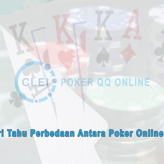 Poker Online & Togel - Mari Cari Tahu Perbedaannya - Poker QQ Online